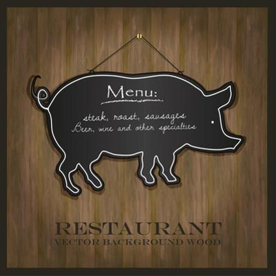 Blackboard Pig Restaurant Menu Card by Mondih