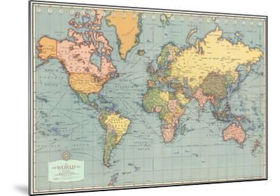 Mondo Moderno (Modern World)- World Map