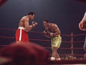 "Muhammad Ali and Joe Frazier, ""Fight of the Year"", March 8, 1971 by Moneta Sleet Jr."