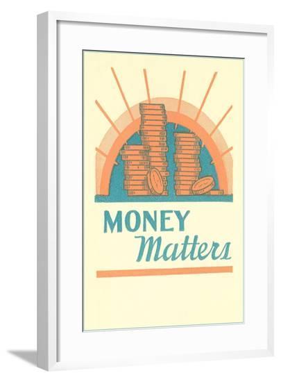 Money Matters--Framed Giclee Print