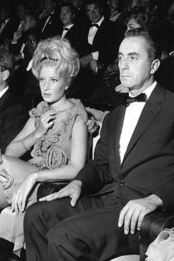 Monica Vitti and Michelangelo Antonioni at the Venice Film Festival, 9th September 1962