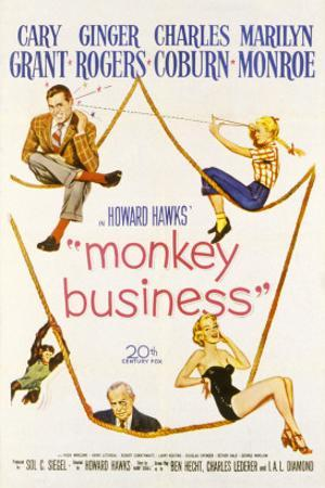 Monkey Business, Cary Grant, Ginger Rogers, Charles Coburn, Marilyn Monroe, 1952