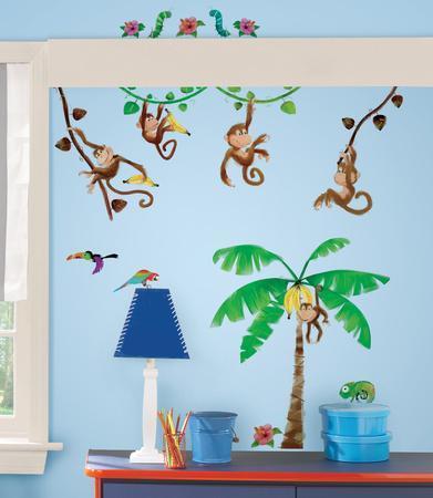 monkey business peel u0026 stick wall decals