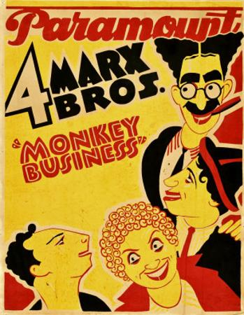 Monkey Business, the Marx Brothers, 1931