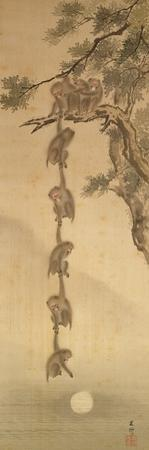 Monkeys Reaching for the Moon, Edo Period (1603-1867)