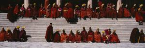 Monks Celebrating New Year, Tongren County, Qinghai Province, China