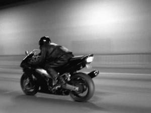 Monochromatic Image of a Motorcycle Rider