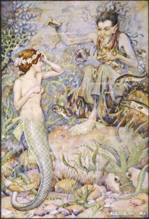 The Little Mermaid Talks with the Witch on the Sea-Floor