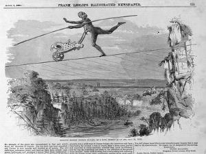 Monsieur Blondin Crossing Niagara on a Rope, 1859