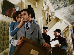 Monsieur Klein by Joseph Losey with Juliette Berto and Alain Delon, 1976 (photo)
