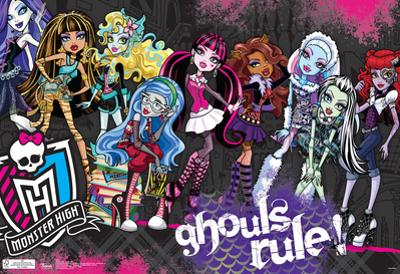 Monster High Ghouls Rule Poster