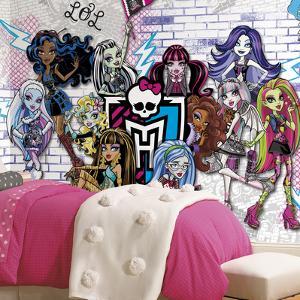 Monster High XL Chair Rail Prepasted Mural