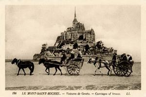 Mont-Saint-Michel, Normandy, France, Early 20th Century
