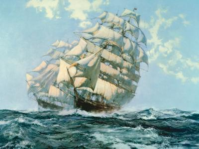 Ariel and Taeping by Montague Dawson