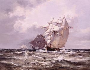 Catch Me Who Can by Montague Dawson