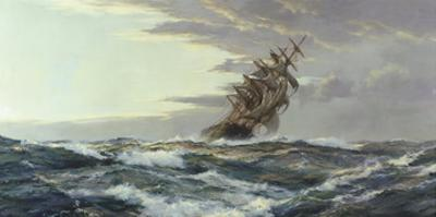 Clearing Skies by Montague Dawson