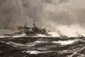 HMS Scylla by Montague Dawson