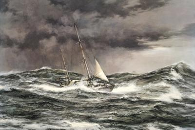 Horn Abeam, Sir Francis Chichester's Yacht, 'Gypsy Moth IV' by Montague Dawson