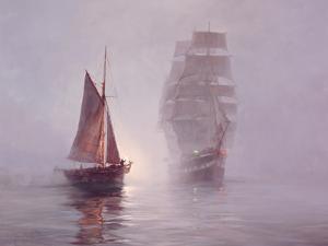 Night Mists by Montague Dawson