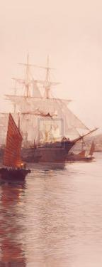 Pagoda Anchorage (Detail) by Montague Dawson
