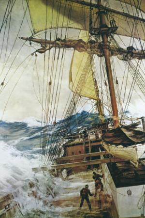 Rising Wind by Montague Dawson