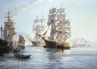 'Spindrift' Preparing To Leave Foochow by Montague Dawson