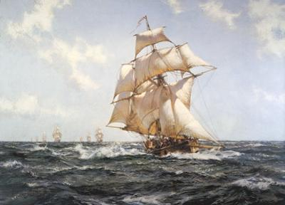 The Fleet Messenger by Montague Dawson