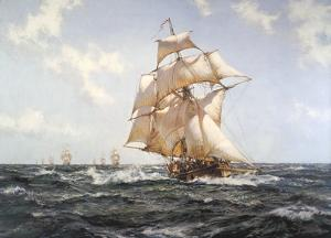 The Fleet Messenger by Montague Dawson