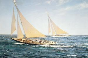 The Greatest Race by Montague Dawson