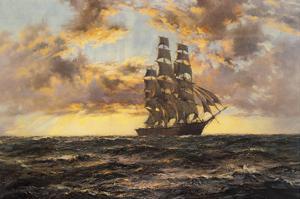 The Tall Ship 'Clipper Kaisow' by Montague Dawson