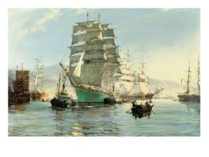 The Thermopylae Leaving Foochow by Montague Dawson