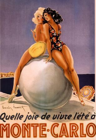 Monte Carlo Beach Babes Quelle Joie de Vivre Vintage Ad Art Print Poster