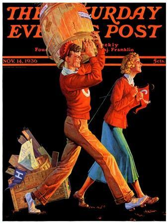 """""""After the Game,"""" Saturday Evening Post Cover, November 14, 1936"""