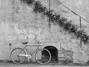 Bicycle & Cracked Wall, Einsiedeln, Switzerland 04 by Monte Nagler