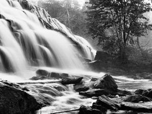 Bond Falls & Rocks by Monte Nagler