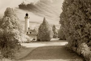Cana Island Lighthouse, Door County, Wisconsin '12 by Monte Nagler