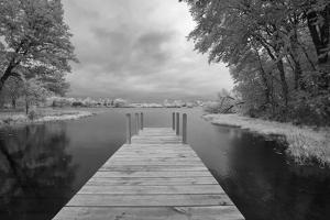 Dock at St. Joseph River, Centreville, Michigan '13-IR by Monte Nagler