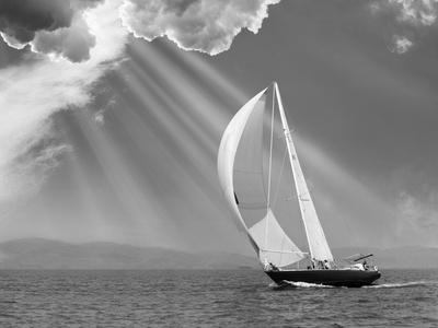 Sailing under sunbeams, L'Anse Bay, Michigan '13