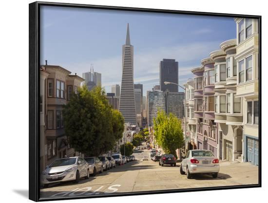 Montgomery Street, Transamerica Pyramid, Telegraph Hill, San Francisco, California, Usa-Rainer Mirau-Framed Photographic Print