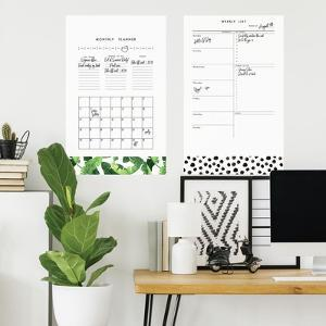 Monthly Planner Dry Erase Peel And Stick Giant Wall Decals