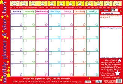 Monthly Planner & Star Chart