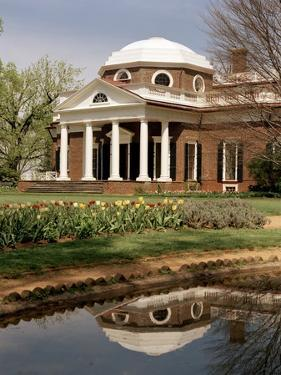 Monticello, Thomas Jefferson's Plantation Home, West Front from Southwest, Ca.1995
