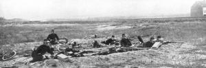 Belgian Bicycle Troops Using Hotchkiss Machine Guns in Haelen, Belgium, August 1914 by Montigny