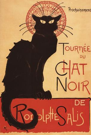 Montmarte, France - Chat Noir Cabaret Troupe Black Cat Promo Poster