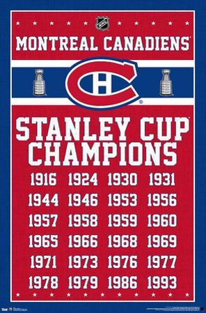 Montreal Canadiens - Stanley Cup Champions