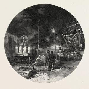 Montreal, Transferring Freight by Electric Light, Canada, Nineteenth Century