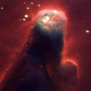 Montrous Star Forming Pillar of Gas and Dust