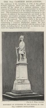 Monument at Inverness to the Honour of the 79th Cameron Highlanders