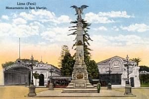Monument to General San Martin, Lima, Peru, Early 20th Century
