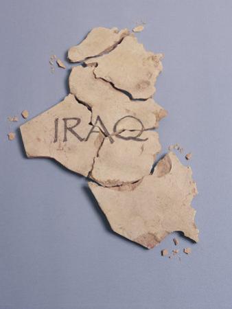 Broken Plaster Map of Iraq